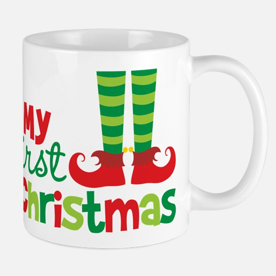 Elf Feet Babies 1st Christmas Mug