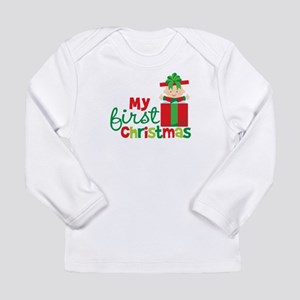Baby in Present Babies 1st Christmas Long Sleeve I