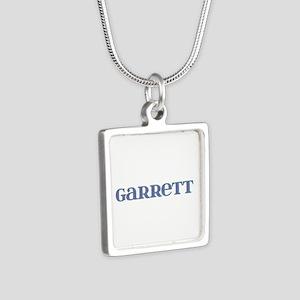Garrett Blue Glass Silver Square Necklace