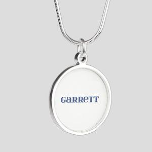 Garrett Blue Glass Silver Round Necklace