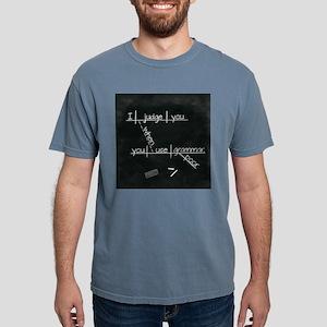 Grammar Diagram (Blk sq) Mens Comfort Colors Shirt