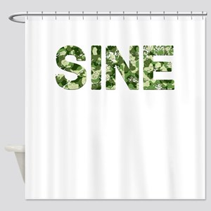 Sine, Vintage Camo, Shower Curtain