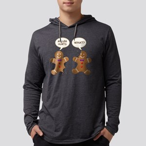 My Leg Hurts! What? Gingerbread  Mens Hooded Shirt