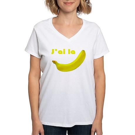 banane Women's V-Neck T-Shirt