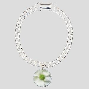 Flower Dogwood Charm Bracelet, One Charm