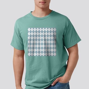 Aquamarine Argyle Mens Comfort Colors Shirt