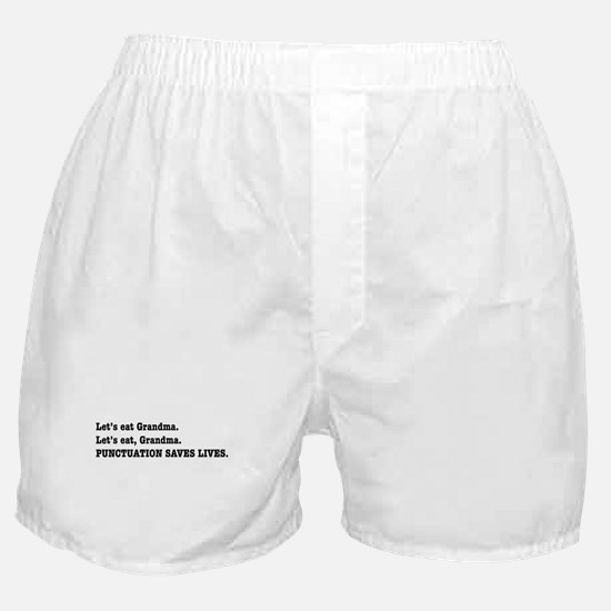 Punctuation Saves Lives Boxer Shorts
