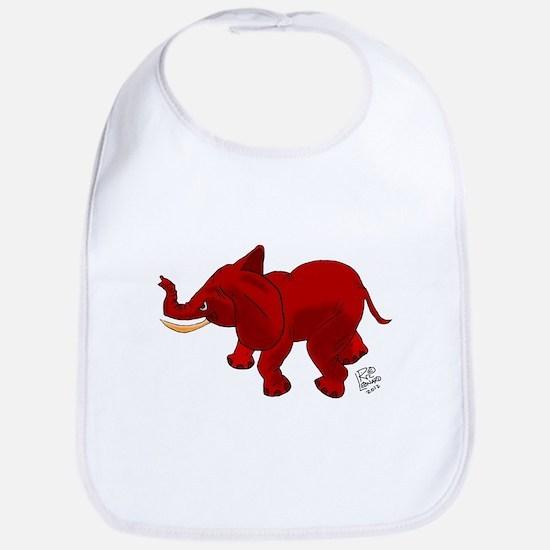 Red Elephant Bib