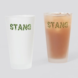 Stang, Vintage Camo, Drinking Glass