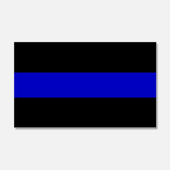 Thin Blue Line Decal Wall Sticker