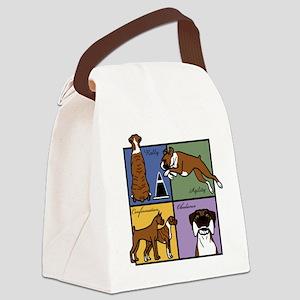 Boxer Four SquareT Canvas Lunch Bag