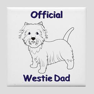 Westie Dad Tile Coaster