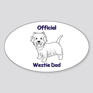 Westie Dad Sticker (Oval)