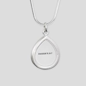 Danielle Carved Metal Silver Teardrop Necklace