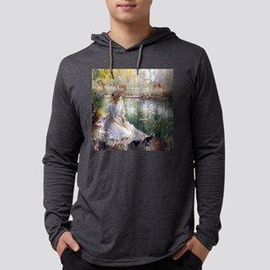 Victorian Day By A River Mens Hooded Shirt