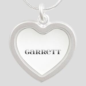 Garrett Carved Metal Silver Heart Necklace