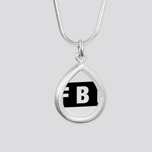 FBI 1 Silver Teardrop Necklace