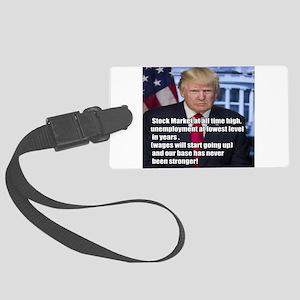 President Trump Stock Market Quote Meme Luggage Ta