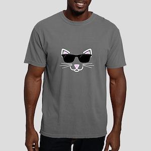 Cool Cat Wearing Sunglas Mens Comfort Colors Shirt