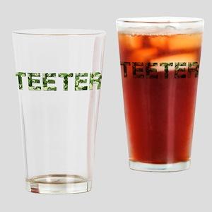 Teeter, Vintage Camo, Drinking Glass