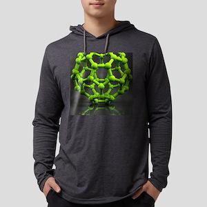 Buckyball molecule C60, artwork Mens Hooded Shirt