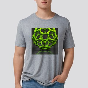Buckyball molecule C60, art Mens Tri-blend T-Shirt