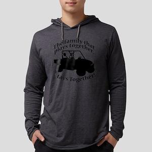 Family Plays BLACK Mens Hooded Shirt