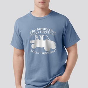 Family Plays WHITE Mens Comfort Colors Shirt