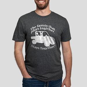 Family Plays WHITE Mens Tri-blend T-Shirt