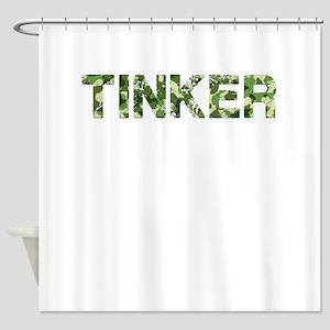 Tinker, Vintage Camo, Shower Curtain