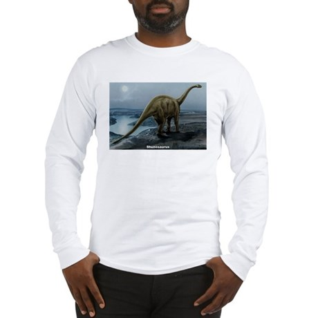 Shunosaurus Dinosaur (Front) Long Sleeve T-Shirt