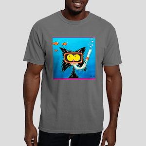 snorkling funny cat Mens Comfort Colors Shirt