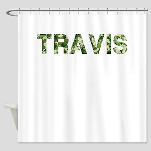 Travis, Vintage Camo, Shower Curtain