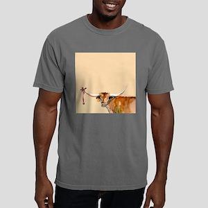 Long Horn Christmas Mens Comfort Colors Shirt