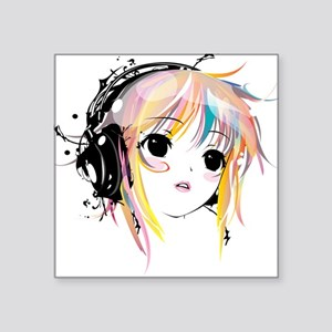 "yuki remix Square Sticker 3"" x 3"""