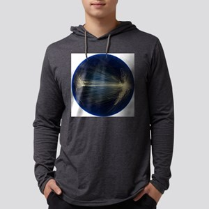 Air traffic routes Mens Hooded Shirt