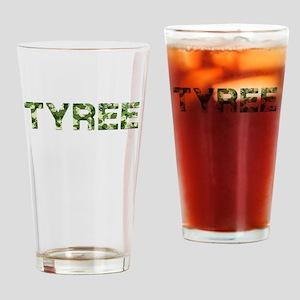 Tyree, Vintage Camo, Drinking Glass