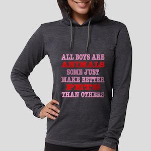 Blk_Boys_Animals_Better_Pets.p Womens Hooded Shirt