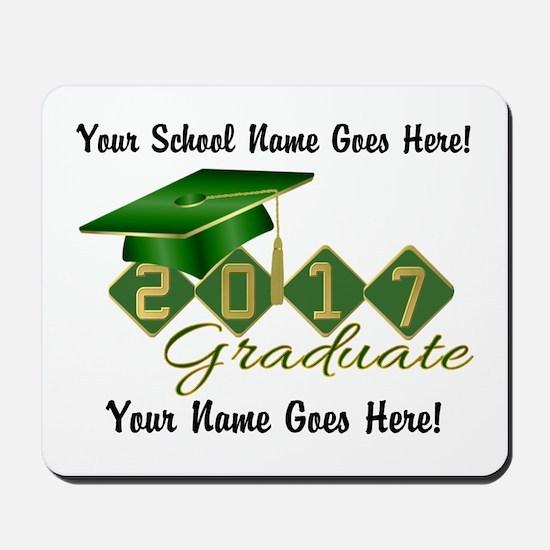 Graduate 2017 Green Gold Mousepad