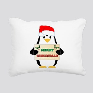 Christmas Penguin Rectangular Canvas Pillow