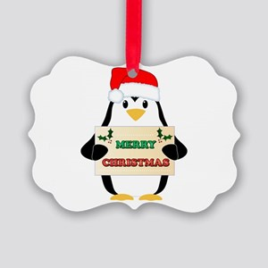 Christmas Penguin Picture Ornament