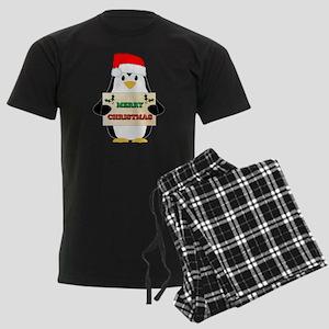 Christmas Penguin Men's Dark Pajamas
