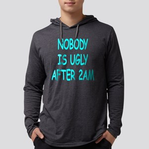 Blk_Nobody_Ugly_2am Mens Hooded Shirt