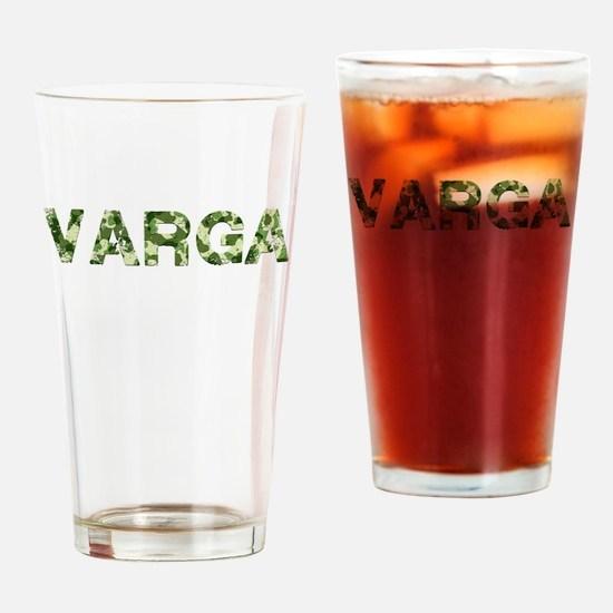 Varga, Vintage Camo, Drinking Glass