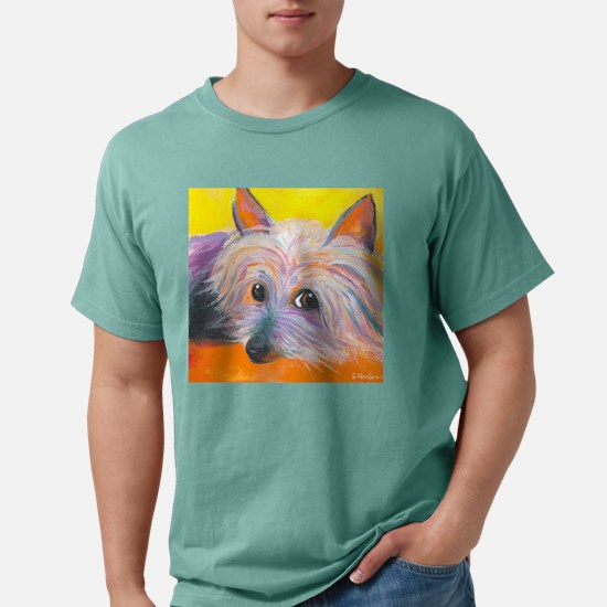 SILKY TERRIER corrected. Mens Comfort Colors Shirt