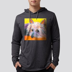 SILKY TERRIER corrected Mens Hooded Shirt