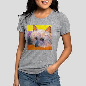 SILKY TERRIER corrected.p Womens Tri-blend T-Shirt