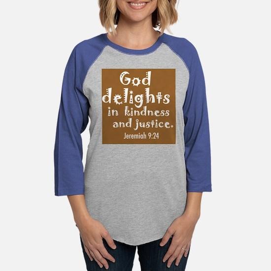 2 god delights large dark squa Womens Baseball Tee