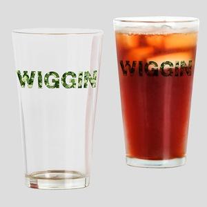 Wiggin, Vintage Camo, Drinking Glass
