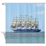 Caribbean Ship Shower Curtain